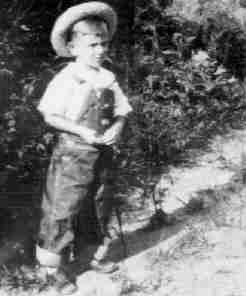 A Real 1930's Monroeville Kid Playing In Overalls